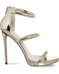 Office - Metallic Nectar Strappy Sandals - Lyst
