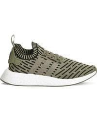 ff0f803464a Adidas Originals Nmd R1 Mesh And Rubber Trainers in Green for Men - Lyst