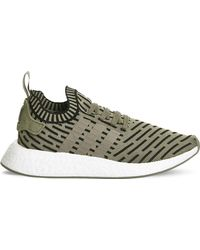 59f9c12b4d3acd Adidas Originals Nmd R1 Mesh And Rubber Trainers in Green for Men - Lyst
