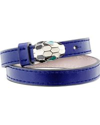 BVLGARI | Multicolor Serpenti Forever Special Edition Leather Bracelet | Lyst