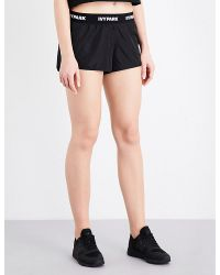 Ivy Park | Black Logo-print Running Shorts | Lyst