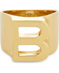 Chloé - Metallic Alphabet B Ring - Lyst
