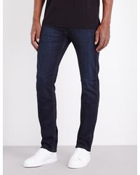 PAIGE - Blue Lennox Skinny Mid-rise Jeans for Men - Lyst