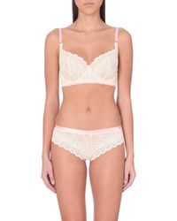 Heidi Klum - Natural Madeline Lace Underwired Bra - Lyst