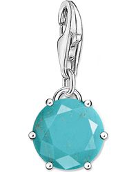 Thomas Sabo - Blue Charm Club Sterling Silver And Turquoise Charm - Lyst