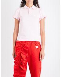 Nicopanda - Pink Ruffled-cuffs Cotton-piqué Top - Lyst