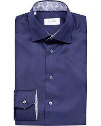 Eton of Sweden | Blue Slim-fit Shirt for Men | Lyst