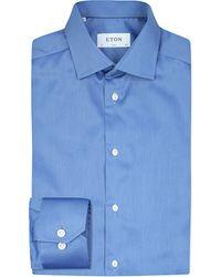 Eton of Sweden | Blue Slim-fit Cotton-twill Shirt for Men | Lyst