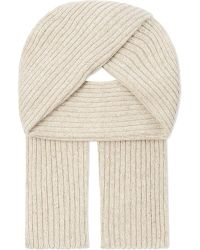 Gieves & Hawkes - Natural Donnegal Ribbed Cashmere Scarf for Men - Lyst
