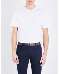 Gieves & Hawkes - White Crewneck Cotton T-shirt for Men - Lyst