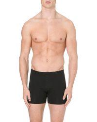 Hanro - Black Superior Short-leg Trunks for Men - Lyst