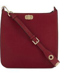 MICHAEL Michael Kors   Red Sullivan Large Leather Messenger Bag   Lyst