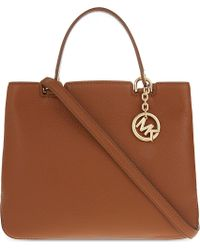 MICHAEL Michael Kors | Brown Anabelle Medium Grained Leather Tote | Lyst