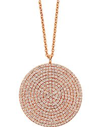 Astley Clarke | Pink Large Icon 14ct Rose Gold Pendant | Lyst