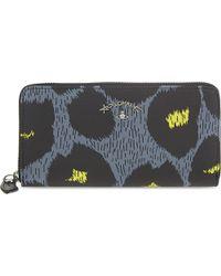 Vivienne Westwood - Gray Leopardmania Continental Wallet - Lyst