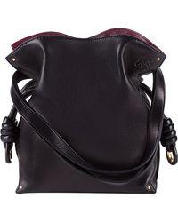 Loewe Black 'small Flamenco Knot' Nappa Leather Bag