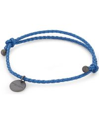 Bottega Veneta Blue Intrecciato Nappa Leather Bracelet
