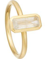 Astley Clarke - Metallic 18ct Gold Vermeil Moonstone Ring - Lyst