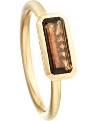 Astley Clarke | Metallic 18ct Gold Vermeil Smokey Quartz Ring | Lyst