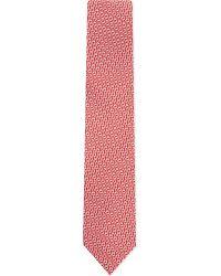 Ferragamo - Pink Chainlink Silk Tie for Men - Lyst