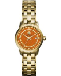 Tory Burch - Orange The Tory Gold-toned Stainless Steel Watch - Lyst