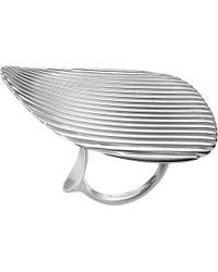 Georg Jensen | Metallic Lamellae Collection Sterling Silver Ring | Lyst