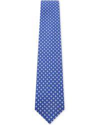 Ferragamo | Blue Bee Silk Tie for Men | Lyst