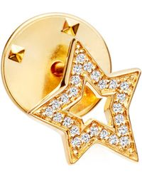 Astley Clarke | Metallic Star Biography 18ct Yellow Gold-plated Vermeil And Sapphire Pin | Lyst