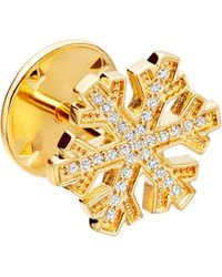 Astley Clarke   Multicolor Snowflake Biography 18ct Yellow Gold-plated Vermeil And Sapphire Pin   Lyst