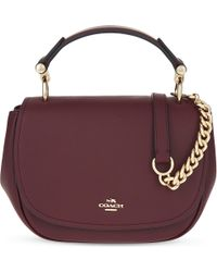 COACH - Purple Petite Nomad Small Leather Cross-body Bag - Lyst