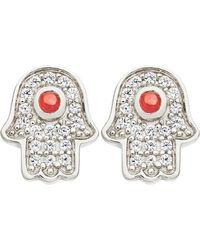 Astley Clarke | Metallic Mini Hamsa Stud Earrings | Lyst