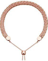 Astley Clarke | Metallic Kula Biography 18ct Rose-gold Peach Woven Bracelet | Lyst