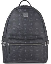 MCM - Black Stark Classic Medium Backpack - Lyst