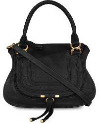 Chloé | Black Marcie Small Leather Shoulder Bag | Lyst