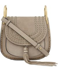 Chloé - Gray Hudson Small Suede Shoulder Bag - Lyst