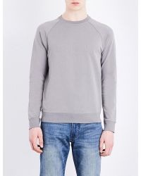 Armani Jeans | Gray Embossed-logo Jersey Sweatshirt for Men | Lyst