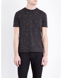 Armani Jeans   Gray Eagle-print Cotton-jersey T-shirt for Men   Lyst