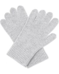 Burberry   Gray Ribbed Wool-cashmere Gloves   Lyst