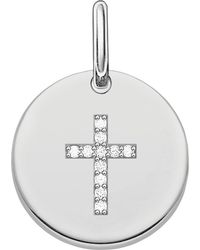 Thomas Sabo - Metallic Love Sterling Silver Engravable Cross Pendant - Lyst