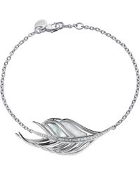 Shaun Leane - Black White Feather Diamond And Mother Of Pearl Bracelet - Lyst