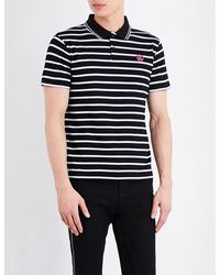 McQ Alexander McQueen | Black Striped Cotton Polo Shirt for Men | Lyst