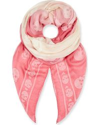 Alexander McQueen - Ladies Pink Ombré Skull Modal-blend Scarf - Lyst