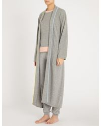 Chinti & Parker Gray Piped-trim Cashmere Dressing Gown