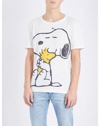 d8221d5265f5 Gucci Snoopy Cotton-jersey T-shirt in White for Men - Lyst