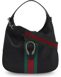 Gucci | Black Dionysus Jackie Medium Leather Hobo Bag | Lyst