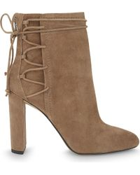ALDO | Brown Taessa Suede Ankle Boots | Lyst