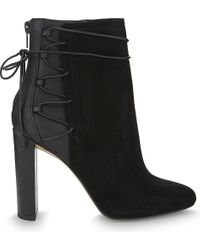 ALDO | Black Taessa Suede And Synthetic Ankle Boots | Lyst