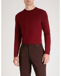 Gieves & Hawkes - Logo-embroidered Wool Jumper for Men - Lyst