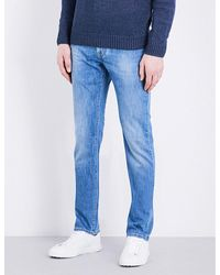Corneliani | Blue Faded Slim-fit Tapered Jeans for Men | Lyst