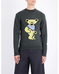 J.W. Anderson - Gray Grateful Bear Wool Jumper for Men - Lyst